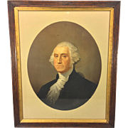 Antique Chromolithograph of George Washington J J Wynkoop 1870 by National Chromo Co