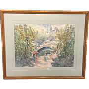 Larry Anderson Brandywine Park Limited Edition Print Framed and Matted