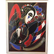 "Martiros Manoukian Acrylic Serigraph ""Harlequin's Lullaby"" Artist Proof 38 0f 40 Framed and Matted"