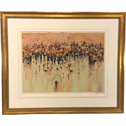 Shmuel Katz Signed Serigraph Ltd Ed 98/900 Matted & Framed Newman Galleries Philadelphia PA