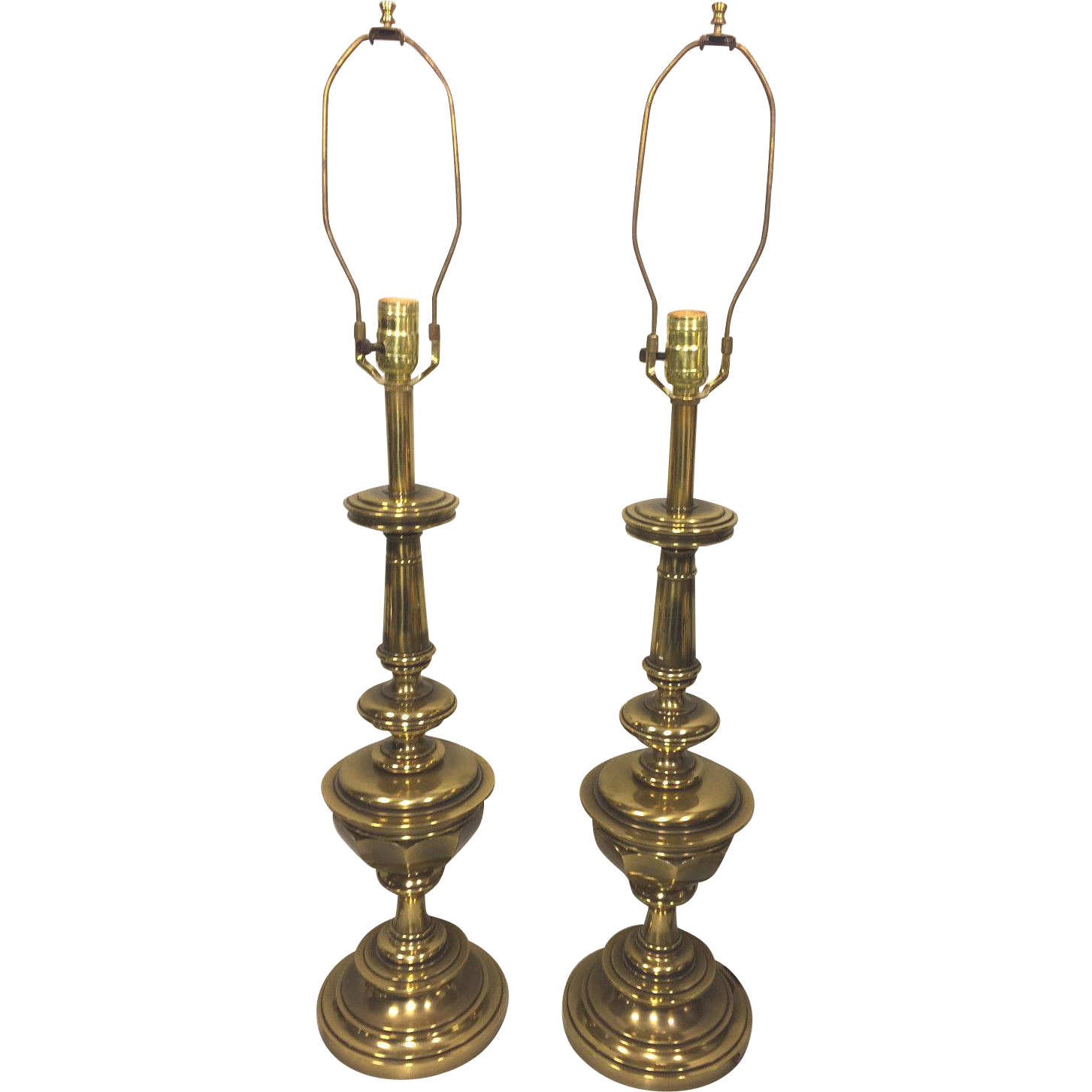 Vintage pair of stiffel brass table lamps work from timelesstokensde