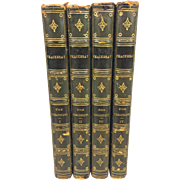 The Virginians A Tale of the Last Century - 4 Volume Set by William  Makepeace Thackeray 1858/1859 Copyright Edition Publisher Bernhard Tauchnitz Leipzig
