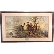 Vintage James Thomas Neumann Artist Proof Signed Print Sons of Gentlemen The Grey Ghost  Item Description