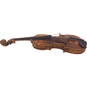 Antique Auguste Violin 1 Piece Belly and Back No Case European Origination  Item Description