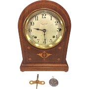 Antique Seth Thomas Sonora Chime Clock 5 Bells Doric Cabimet Model  No 61 Circa 1912-1914 Runs Strikes and Chimes Inlaid Wood Case