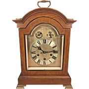 Antique Phillip Haas & Son (Sohne) Bracket Clock Unique and Rare Westminster Chimes Runs Strikes & Chimes Oak Case Germany