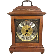Vtg Herschede Walnut Bracket Clock Westminster Chimes from Estate of Former MD Governor Marvin Mandel Running