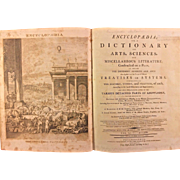 "Dobson's Encyclopaedia, or ""A Dictionary of Arts, Sciences, and Miscellaneous Literature"". Thomas Dobson, Philadelphia, 1798. Includes 18 volumes, with 3 Supplement vols. Dobson's ""Encyclopaedia"" was the first encyclopedia printed &published in USA"