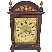Antique New Haven Chime Clock No 1 Running  8 Bell Westminster Chimes Repeater Clock Nice Mahogany Case see Tran Ly's New Haven book, page 400