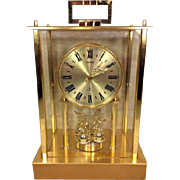 Vintage Citizen Quartz Mantel Clock with Pendulum that Spins Runs!