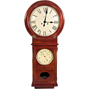 Vintage Howard Miller Regulator Wall Clock (Lawyer II) with Weather Station Mahogany or Cherry Runs Model 620-249