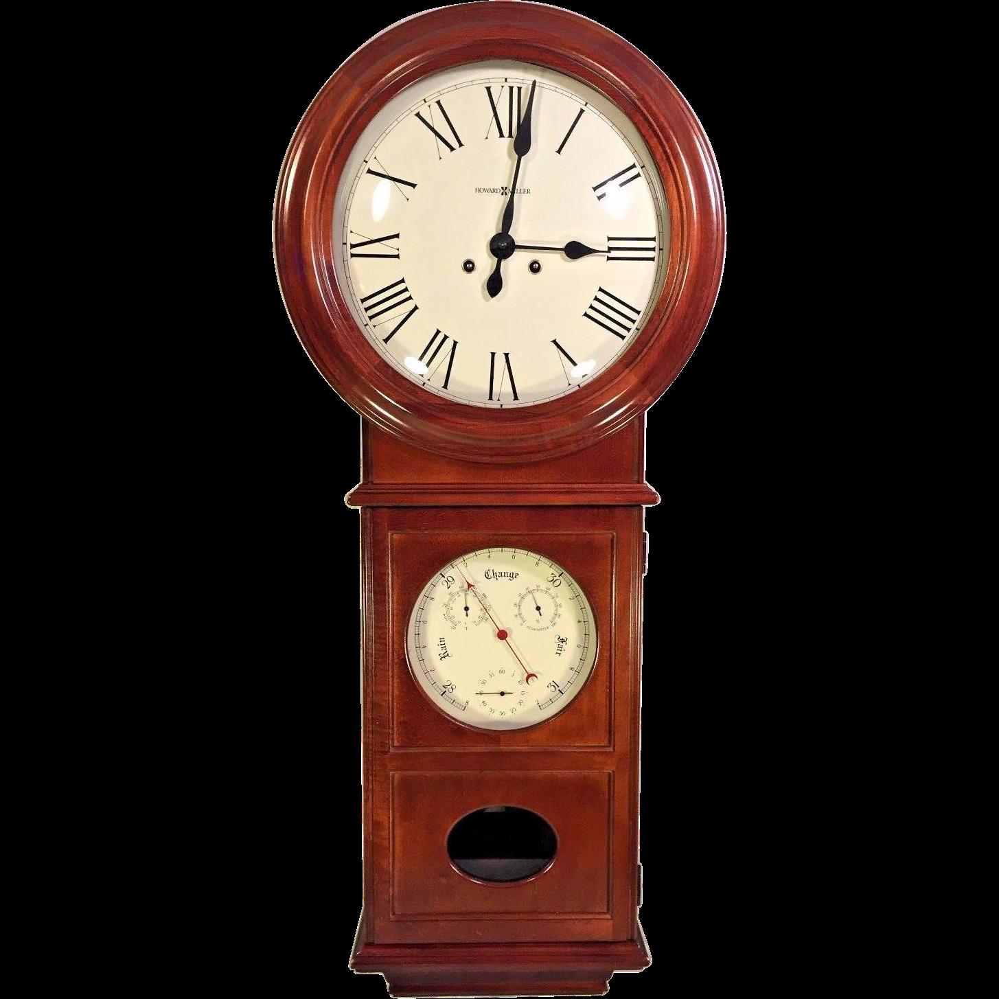 vintage howard miller regulator wall clock lawyer ii