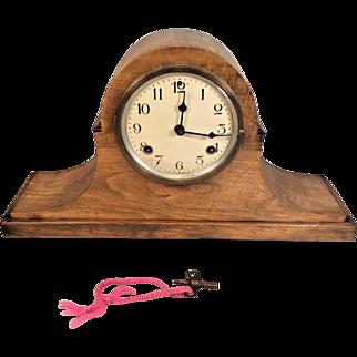 Vintage Waterbury Mantel Clock Tambour Case  Running & Striking