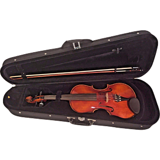 Antique Giovan Maggini Violin 1634 Double Purfling with Vinyl Case & Bow 2 Piece Belly & Back
