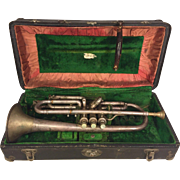 Vintage Frank Holton Trumpet in Case Holton-Clarke Model 3 Valves Chicago IL