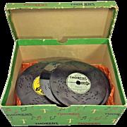 "Vintage Thorens Music Box Disks 20 of Them 4.5"" in Box"