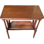 Brandt Magazine Rack Table Mahogany Great Shelf Top Detailed Sides