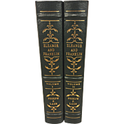 Eleanor and Franklin 2 Vol Set Easton Press 1991 Collectors Edition Leather Bound 24K Gold Gilt Pages