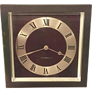 Antique Art Deco Bronze Clock J E Caldwell & Co Beveled Glass Runs  Maybe a Chelsea