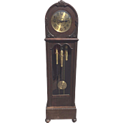 Vintage Gustav Becker Grandfather Clock Westminster Chimes Torpedo Weights Runs Strikes & Chimes