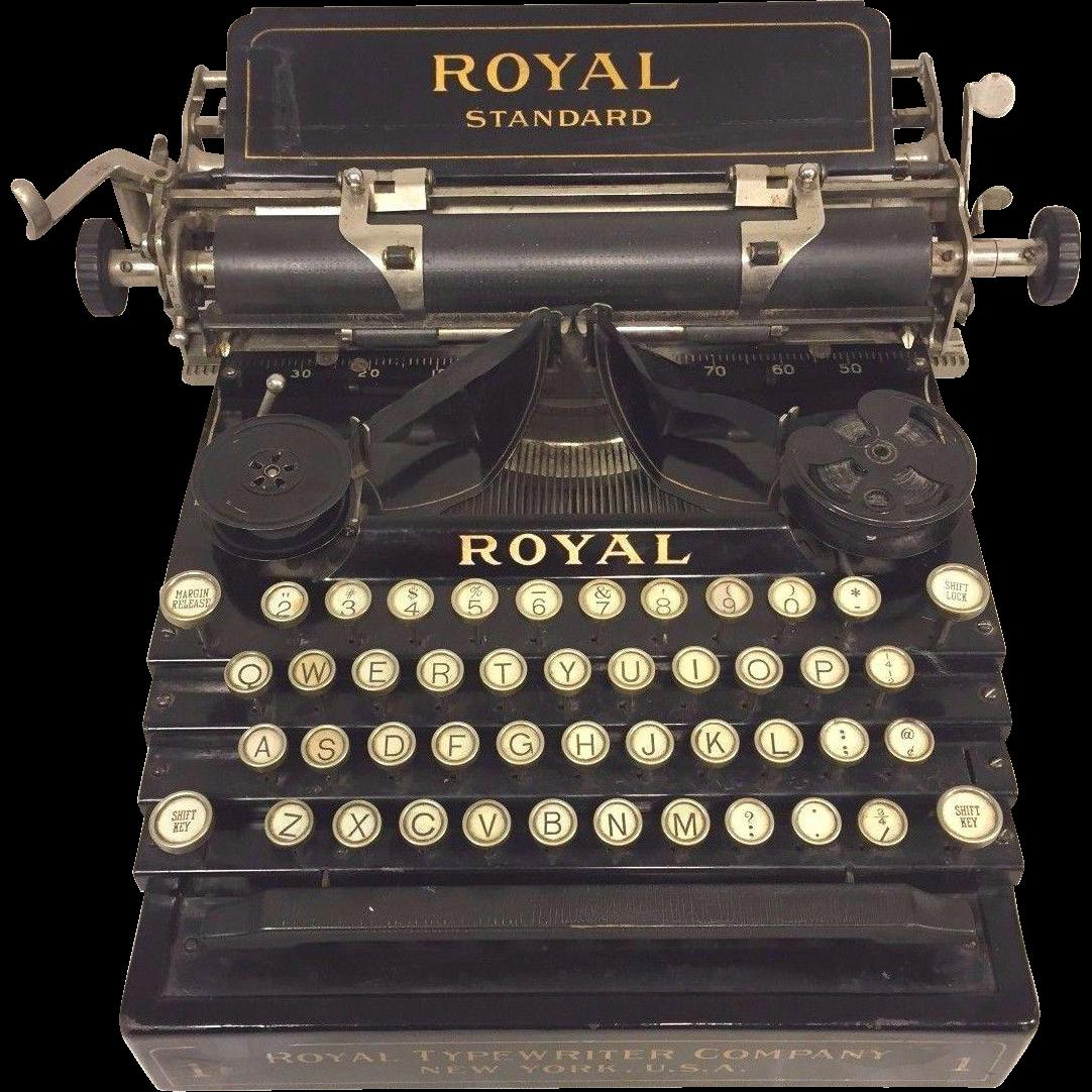 Antique Royal Standard No 1 Typewriter Nice Stenciling ...