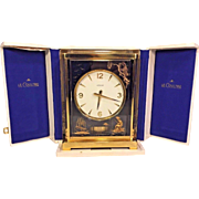 Vintage LeCoultre Atmos Clock w/ Case V Chinoise  by Marina 1972 Nice 24K Lacquer Caliber 526-5 SERVICED AND RUNNING!