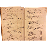 Antique Store Ledger 1853-1854 J Chock's General Store Upper Bern Township, PA