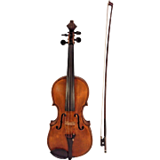 Antique Giovan Paolo Maggini brescia 1640 Violin Double Purfling with Case & Bow  2 Piece Belly & Back