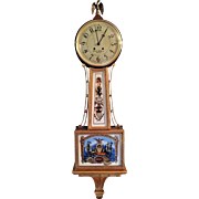Vtg Simon Willard Banjo Clock Reproduction by Colonial for the Henry Ford Museum Running & Striking 1980s