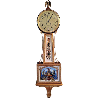 Vtg Simon Willard Banjo Clock Reproduction by Colonial for the Henry Ford Museum Running?