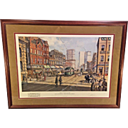 Paul McGehee Old Atlanta Peachtree Street Limited Edition Print w/ Remarque Professionally Framed and Matted Conservation Glass