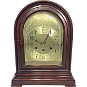 Antique Herschede Bracket Clock Beehive Clock Mahogany Case Westminster Chimes  Runs Not Striking or Chiming