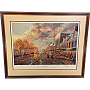 Old Easton Limited Edition Print by Paul McGehee Professionally Framed and Matted Conservation Glass