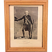 Antique Engraving Joseph Warren from Painting by A Chappel Revolutionary War 1863 From Estate of Descendant of General William Seward