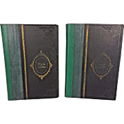 Vintage Set of 2 Volumes of Hebrew Language Books in Slipcover Circa 1930