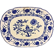 Antique Onionware Serving Platter Allertons   Crown Mark on Bottom Impressed & In Blue England