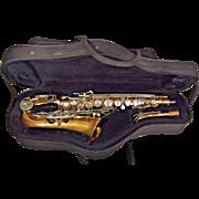 Vintage Bundy II Saxophone Made by Selmer Companu in USA w/ Neck, Case & Mouthpiece