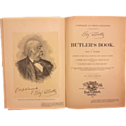 Autobiography and Personal Reminiscences of Major General Benjamin Butler 1892 Belonged to Descendant of Brig General William Seward Jr Antique Civil War Book