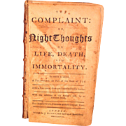 The Complaint or Night Thoughts on Life Death and Immortality Edward Young 1768