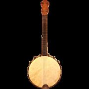 Antique 4 String Banjo No Case Unknown Maker