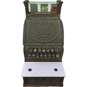 Vintage 1913 National Cash Register Class 300 Model 313 w/ Marble Shelf Glass Top Beautiful Detailing Circa 1913
