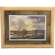 Robert Back Ltd Ed Print of Washington DC Harbor 1874 Framed & Matted Hand Signed & Numbered 102/750