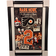 Mark Howe NHL Flyers Jersey Retirement Poster March 2012 Signed & Framed
