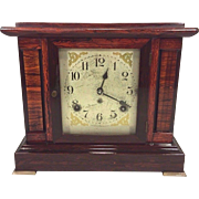 Vintage Seth Thomas Sonora Chime Clock 4 Bells Adamantine Case Running Brass Foot Missing
