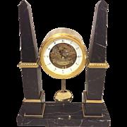Vintage Franklin Mint Thomas Jefferson Model Clock Running & Bell Strike