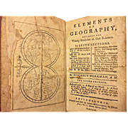 Elements of Geography by Benjamin Workman 1790 Petite Antique Book Printed by John McCullough Philadelphia, PA
