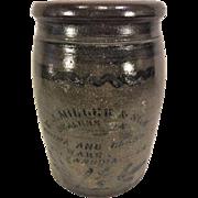 Antique H J Miller & Son Antique Stoneware Crock China & Glassware Alexandria VA