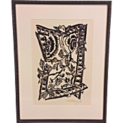 Artist Proof Wood Block Print by J Kooilf Matted and Framed  from Gallery Lafayette in Alexandria VA #1 of 4