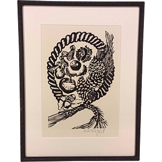 Artist Proof Wood Block Print by J Kooilf Matted and Framed  from Gallery Lafayette in Alexandria VA #2 of 4