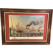 "Paul McGehee ""Baltimore"" Limited Edition Print w/ Remarque of the USS Constellation Professionally Framed & Matted"